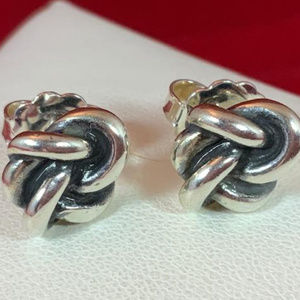 James Avery 925 Original Lovers Knot Post Earrings